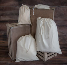 Natural Calico Drawstring Reusable Food Bag Fruit/Veg/Ham Bag