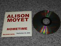 ALISON MOYET Hometime RARE Advance UK PROMO CD 2002 In Cardsleeve SANCTUARY