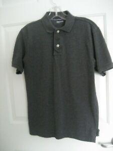 UNWORN Boys XXL 14-16 Pique Knit Dark Gray GAP KIDS POLO SHIRT S/S 100% Cotton