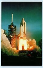 *Columbia Space Shuttle Lift Off Launch Pad 1981 Vintage Postcard B84