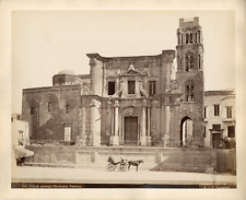 Italie, Palerme, Palermo, Sicile, veduta generale Martorama   Vintage albumin pr