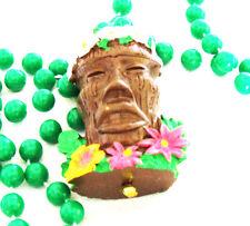 Tiki Head Luau Mardi Gras Bead Necklace Buffett Summer Beach Fun