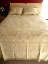 Lamont Home NEW 3pc SET Full/Queen Beadspread 2 Shams Sage Green Ivory Cotton