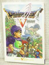 DRAGON QUEST V 5 w/Map Guide PS2 Book VJ2x*