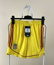 Nwt Liverpool Shorts Football Soccer Adidas Boys Child 158 Yellow Away