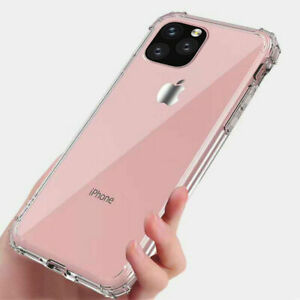 Bumper Case For iPhone SE 11 Pro Max Clear Shockproof Silicone Protective Cover