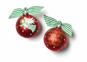 Coton Colors Hark the Herald Glass Ornament