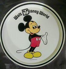 Walt Disney World Mickey Mouse Metal Plate Tin Display Dish Tray Vintage Used