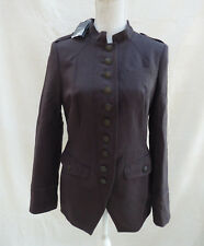 NEW Next brown military style lg sleeve long jacket / coat Size 12