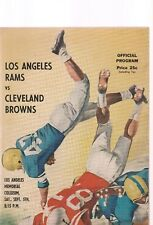 LOS ANGELES RAMS VS. CLEVELAND BROWNS L.A. COLISEUM SEPT.5, 1959 PROGRAM