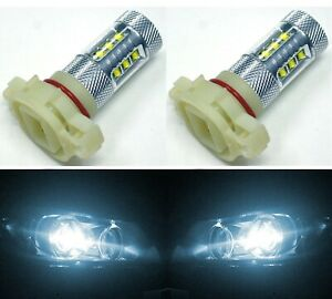 LED 80W 12085 5201 PS19W White 6000K Two Bulbs DRL Daytime Light Replace OE