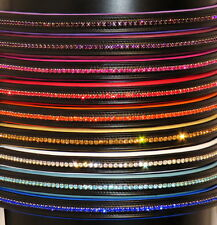 FSS Crystal Bling Padded Browband RED BLUE ORANGE GOLD PINK PLUM PURPLE WHITE
