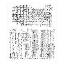 """Tim Holtz Cling Rubber Stamp Set 7""""X8.5"""" - Ledger Script"""