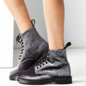 Dr. Martens Doc Paisley 1460 Brocade Velvet Ankle Combat Lace Up Boots US 5 UK 3