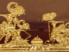 ANTIQUE 9x14 Inch GOLD FOIL ASIAN FRAMED FIGURAL ART ON VELVET BB2D318
