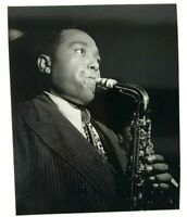 postcard photo charlie parker 1948 by william gotllieb saxophone play music
