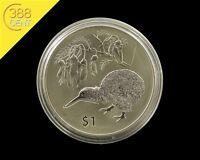 Neuseeland Kiwi Treasures Kowhai Flower 1 Unze oz Silber 2012 BU Kapsel