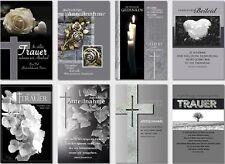 50 Trauerkarten Trauerkarte Trauer Beileidskarten Kondolenzkarte sk 3899