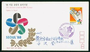 MayfairStamps Korea 1981 Seoul Chosen for 1988 Games First Day Cover wwp80401