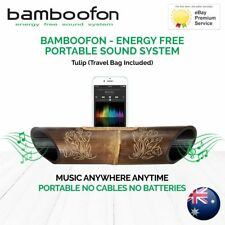 BambooFon - Energy Free Portable Sound System - Tulip (Travel Bag Included)