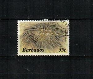 BARBADOS Scott's 648b ( 1v ) Animal Flower F/VF Used ( 1986 )