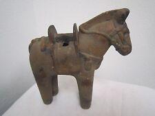 "Antique JAPANESE Cast Iron HORSE Removable Saddle INCENSE BURNER 6 x 7"" *"