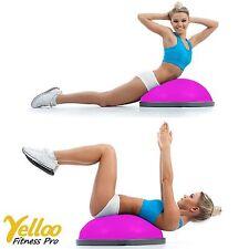 PALLA Ball PILATES Equilibrio Bosu Con ELASTICI Riabilitazione YOGA Colore ROSA