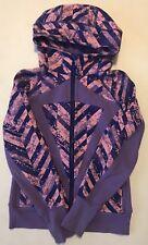 IVIVVA Remix Scuba Hoodie Hooded Sweatshirt Jacket Size 12 Purple