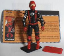 ✩G.I.Joe✩ cobra soldier Hiss gunner figure 100% complete w file card custom