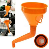 Detachable Flexible Car Water Oil Funnel Petrol Diesel With Spout & Filter 130mm