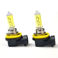 2Pcs H11 55W 12V 3000K Yellow Halogen Bulb Auto Lamp Quartz Glass Car Fog Light
