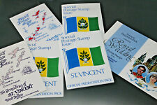 ST VINCENT - RANGE OF 1970's/80 PRESENTATION PACKS - ALL COMPLETE