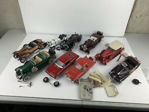 LOT OF 9 1/24 DIECAST  FRANKLIN MINT AND DANBURY MINT CARS SOLD AS IS !!!!
