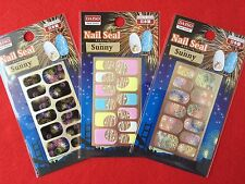 "DAISO JAPAN ""Nail Sticker"" Art Seal Summer ver. Fireworks 3sheets F/S NEW"