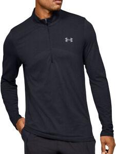 Under Armour Seamless Half Zip Long Sleeve Mens Training Top - Black