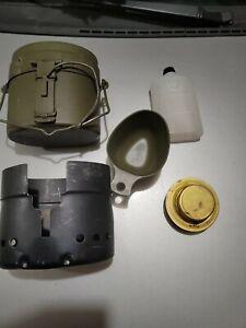 Original Swedish Stainless Steel Trangia Mess Kit USED With Burner & Shield M40