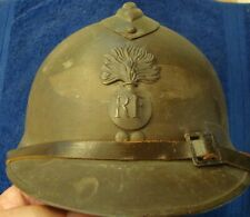 French Adrian M26 Helmet By Carpentier - Used By German Luftschutz During Wwii