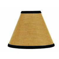 Lamp Shade 12 inch Burlap with Black Stripe Farmhouse Primitive Decor Ring Clip