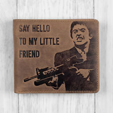 Brown Leather Mens Tony Montana Scarface Wallet by Mustard