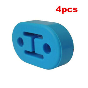 4x Blue Exhaust Mount Rubber Insulator Grommet Hanger Bushing 12mm Rod Support