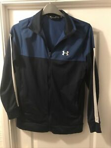 Under Armour Blue Full Zip Track Top Jacket Size M O383