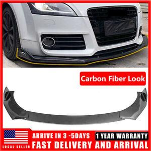 For Audi A4 S4 R8 Q3 Q5 Q7 RS5 RS6 RS7 S3 Carbon Fiber Lip Body Kit Splitter Tri