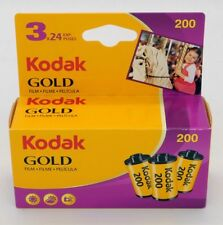 Kodak pack de 3 films GOLD 200 ISO 24 poses, péremption aout 2019