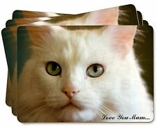 White Cat 'Love You Mum' Picture Placemats in Gift Box, AC-79lymP