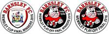 BARNSLEY FC 2 WEMBLEY CUP FINALS 2016 LIMITED EDITION CAR STICKERS