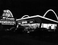 McDonald's Restaurant Large Photo 11X14   1955 Des Plaines Illinois Speedee Kroc