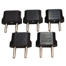 5Pcs US/USA to European Euro EU Travel Charger Adapter Plug Outlet Converter AL