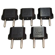 5 Pcs US USA to EU Euro Europe AC Power Wall Plug Converter Travel Adapter