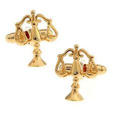 1 pair scale of justice cufflinks,balance scale cufflinks,gold color
