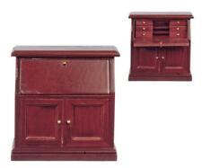 Dolls House Mahogany Secretary Bureau Desk Miniature Office Study Furniture
